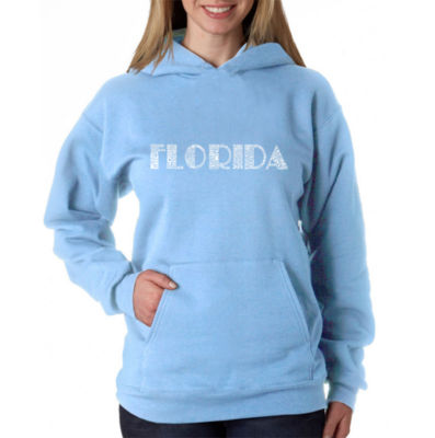 Los Angeles Pop Art Popular Cities In Florida Sweatshirt