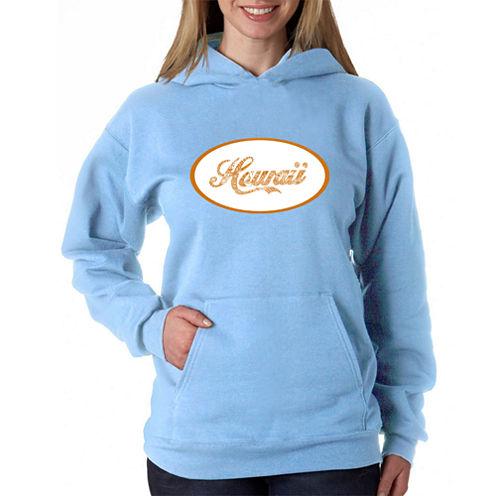 Los Angeles Pop Art Hawaiian Island Names & Imagery Sweatshirt