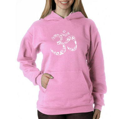 Los Angeles Pop Art The Om Symbol Out Of Yoga Poses Sweatshirt