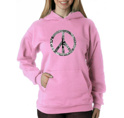 Los Angeles Pop Art Peace Love & Music Sweatshirt