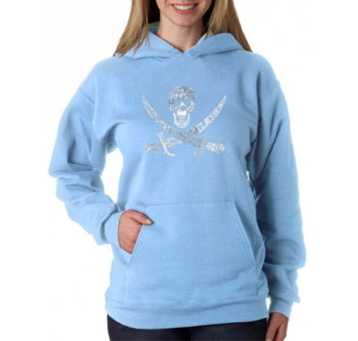 Los Angeles Pop Art Pirate Captains Ships And Imagery Womens Sweatshirt