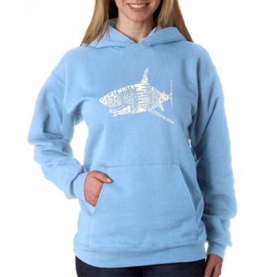 Los Angeles Pop Art Species Of Shark Womens Sweatshirt