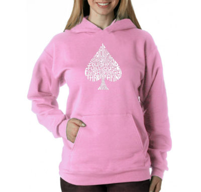 Los Angeles Pop Art Order Of Winning Poker Hands Sweatshirt