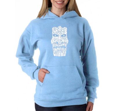 Los Angeles Pop Art Tiki - Big Kahuna Womens Sweatshirt