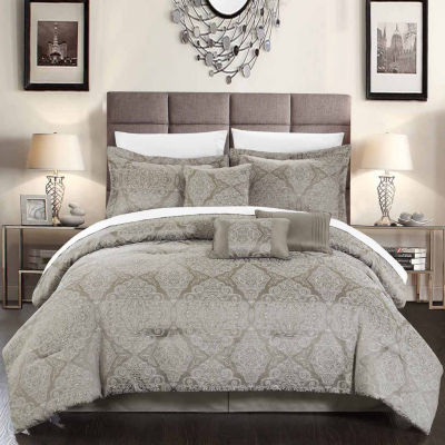 Chic Home Jessica 7-pc. Midweight Embroidered Comforter Set