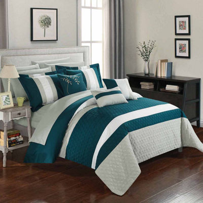 Chic Home Pueblo 10-pc. Midweight Embroidered Comforter Set
