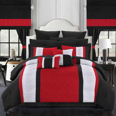 Chic Home Danielle 24-pc. Midweight Embroidered Comforter Set