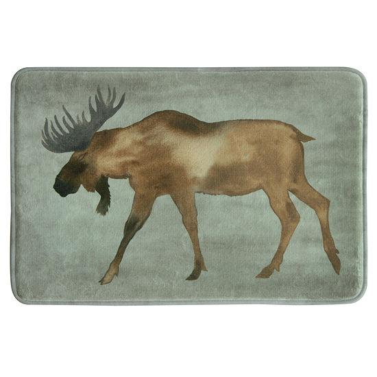 Bacova Guild Moose Memory Foam Bath Rug