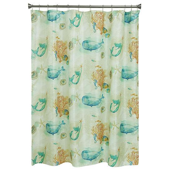 Bacova Guild Sea Splash Shower Curtain