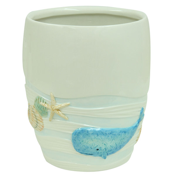 Bacova Guild Sea Splash Waste Basket