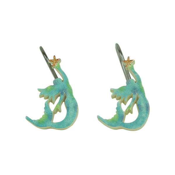 Bacova Guild Sea Splash Shower Curtain Hooks