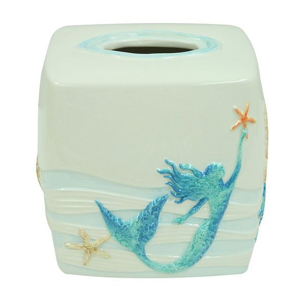 Bacova Guild Sea Splash Tissue Box Cover