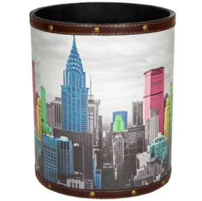 Oriental Furniture Highlights Of New York Waste Basket