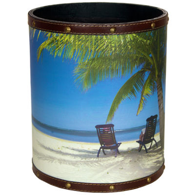 Oriental Furniture Caribbean Beach Waste Basket