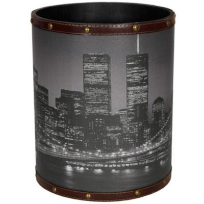 Oriental Furniture Brooklyn Bridge Waste Basket
