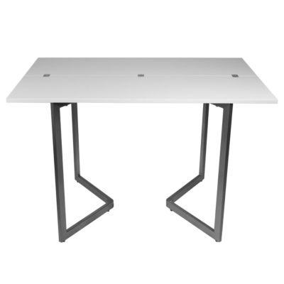 Expanding Console Wood-Top Dining Table