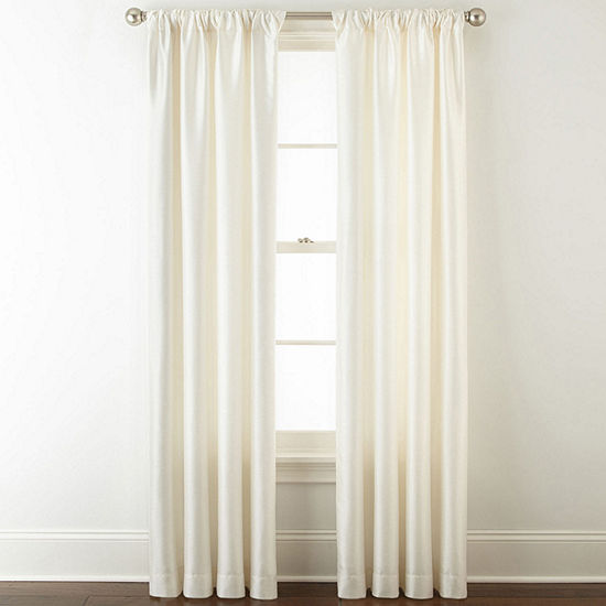JCPenney Home Westfield Room-Darkening Rod-Pocket/Back-Tab Curtain Panel