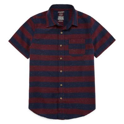Arizona Short Sleeve Button-Front Shirt Boys 4-20