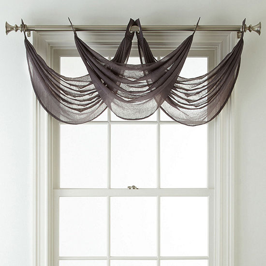Home Expressions Crushed Voile Grommet Top Waterfall Valance