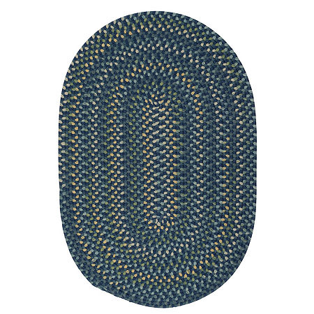 Colonial Mills Oregon Braided Oval Reversible Rugs, One Size , Blue Product Image