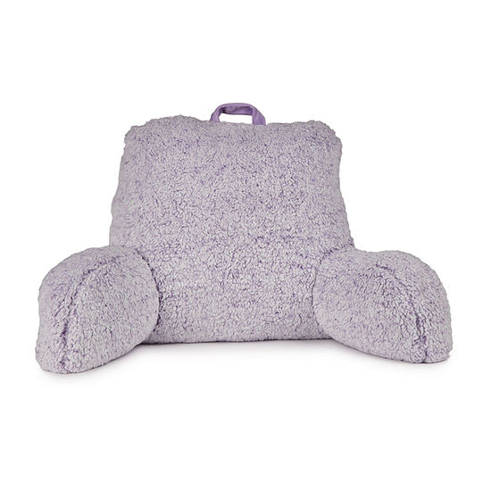 Home Expressions Sherpa Back Bed Rest Pillow