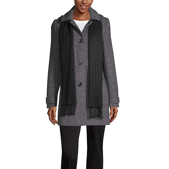 St. John's Bay Heavyweight Hooded Peacoat
