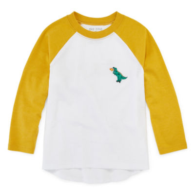 Okie Dokie Boys Crew Neck Long Sleeve T-Shirt-Toddler