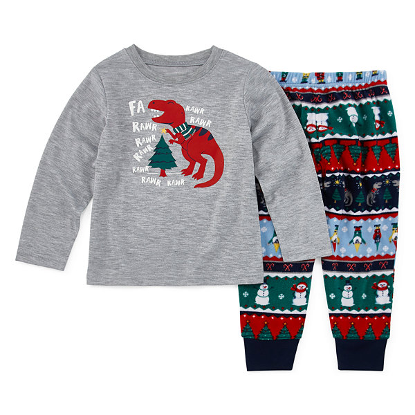 North Pole Trading Co. Fun Fairisle Family Boys 2-pc. Pant Pajama Set Toddler