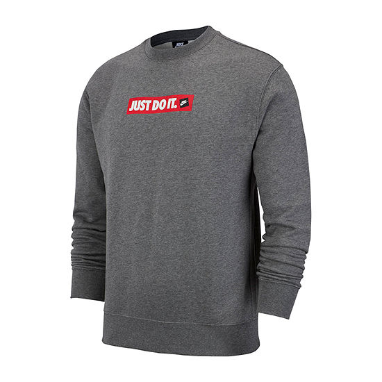 Nike Just Do It Mens Crew Neck Long Sleeve Sweatshirt