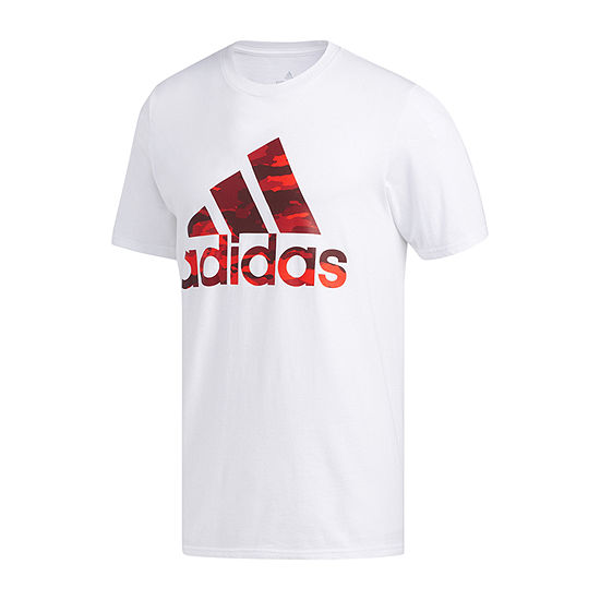 adidas Mens Crew Neck Short Sleeve T-Shirt-Athletic