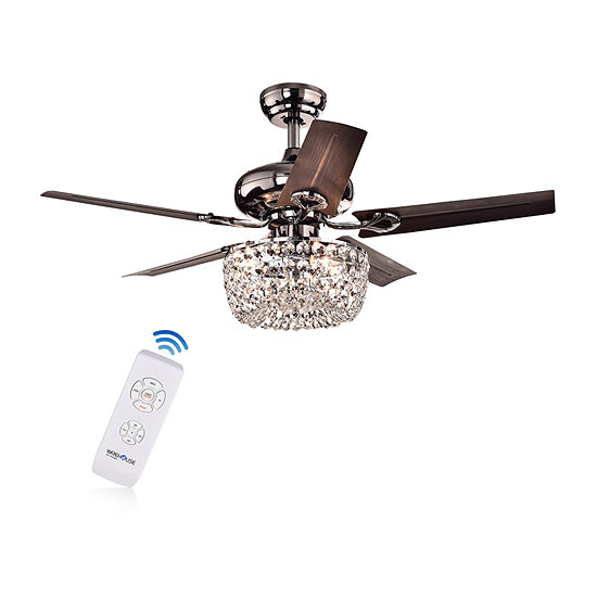 Warehouse Of Tiffany Angel 43 In. Indoor Satin Brown Finish Remote Controlled Chandelier