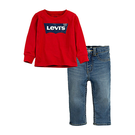 Levi's Boys 2-pc. Logo Pant Set Toddler