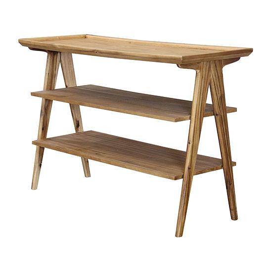 Stylecraft Wood 3 Shelf Console Table
