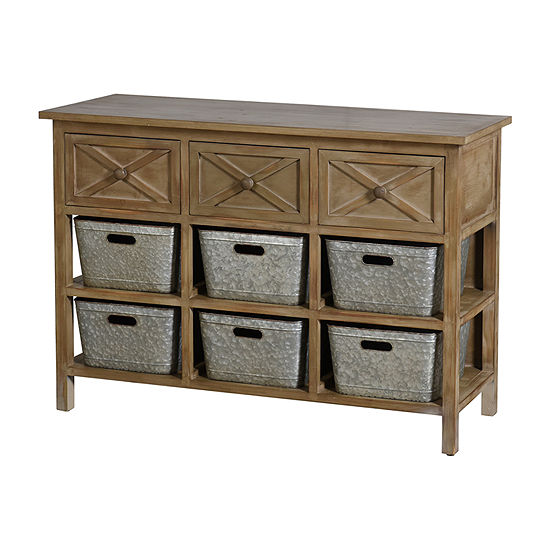 Stylecraft Wood 3-drawer with Shelves Console Table
