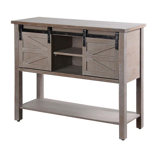Stylecraft Greywash with Barn Doors Console Table