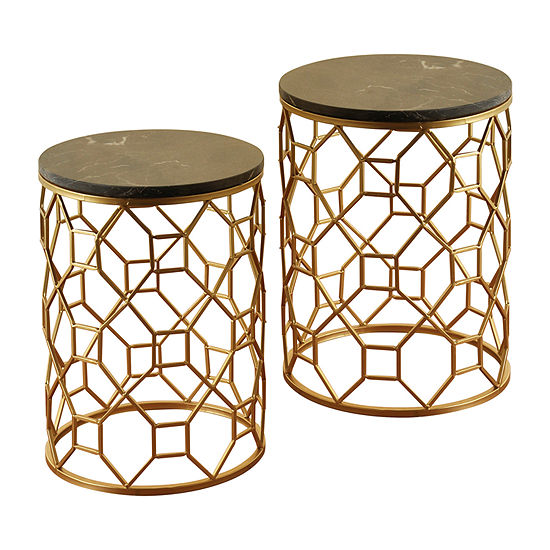 Gold Round Nesting Tables