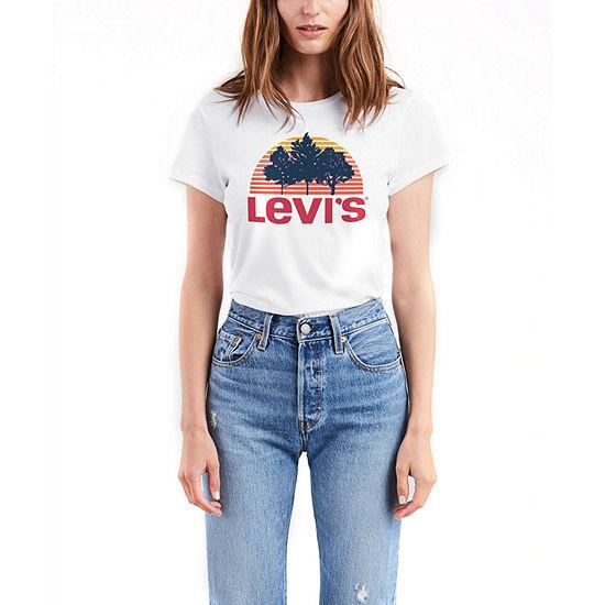 08d2d21a821e Levi's The Perfect Tee-Womens Crew Neck Short Sleeve T-Shirt - JCPenney