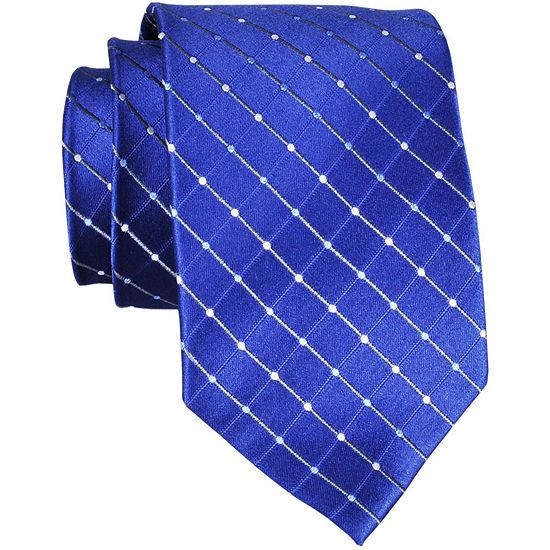 Stafford® Dotted Grid Silk Tie