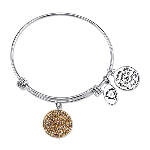 Footnotes Too® Gold-Tone Disc Bangle Bracelet