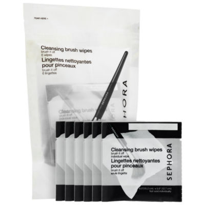 SEPHORA COLLECTION Brush It Off Cleansing Brush Wipes