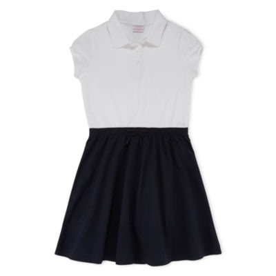IZOD® Exclusive Cap-Sleeve Polo Dress - Girls 4-16 and Plus