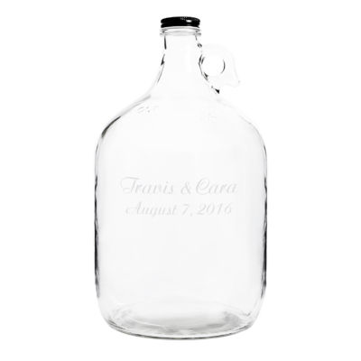 Personalized Wedding Bottle Guest Book