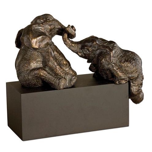 Playful Pachyderms Sculpture