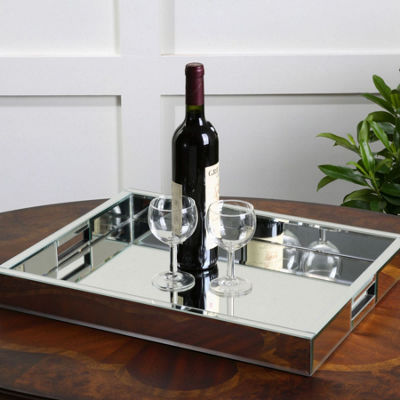 Aniani Mirrored Decorative Tray