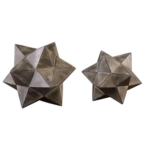 Set of 2 Geometric Stars Accessories