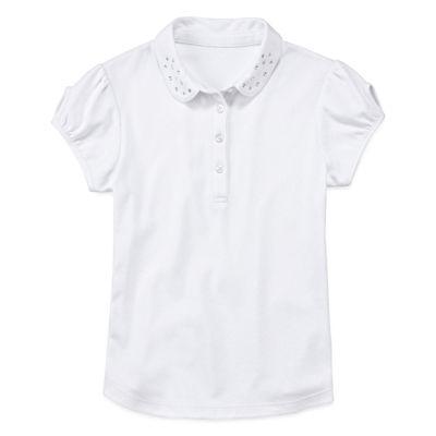 IZOD® Short-Sleeve Dazzle-Collar Polo - Girls 4-18 and Plus