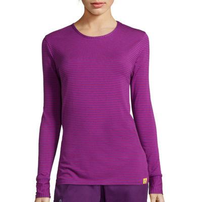 WonderWink® Layers Womens Long-Sleeve Striped Tee