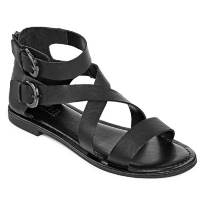 a.n.a Womens Maple Ankle Strap Flat Sandals