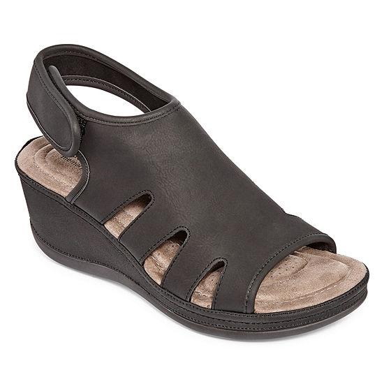 St. John's Bay Womens Francine Wedge Sandals