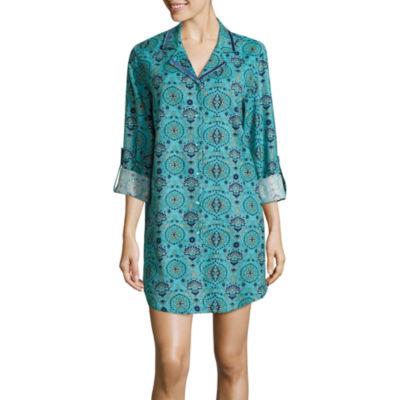 Liz Claiborne Flannel Long Sleeve Nightshirt